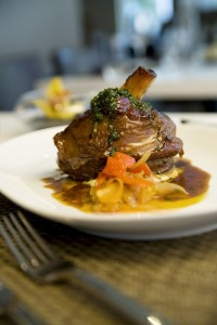 Braised Lamb Shank With Gremolata And Sweet Bell Pepper Ragout