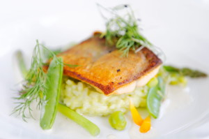 trout with lemon risotto