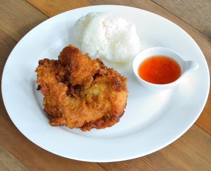 Oven Fried Chicken with Sticky Orange Sauce