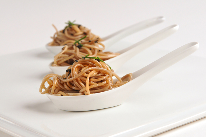 Spicy Soba Noodles Spoons