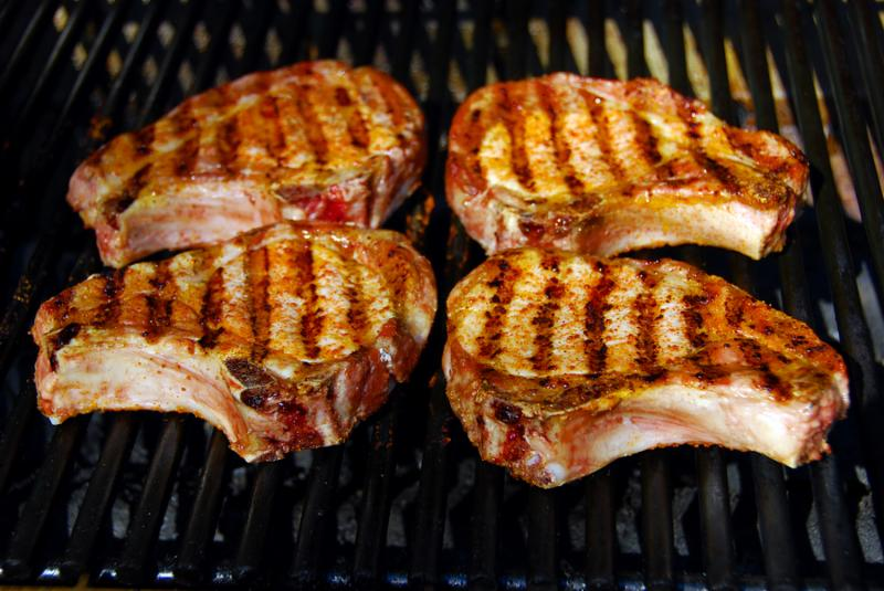 Mustard Brined Grilled Pork Chops