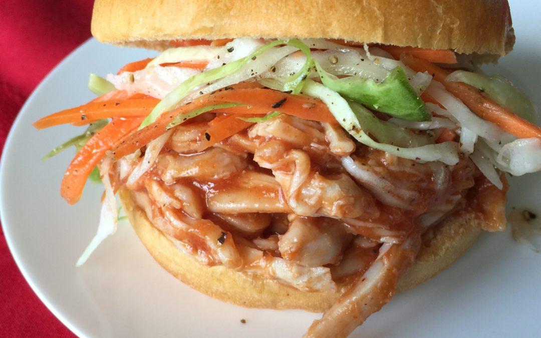Sweet Peach BBQ Chicken Sandwiches
