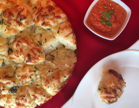 Three Cheese & Herb Pizza Pull With Fresh Pizza Sauce