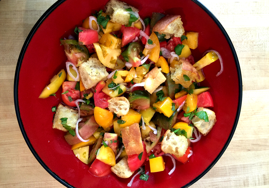 Panzanella Salad with Heirloom Tomatoes