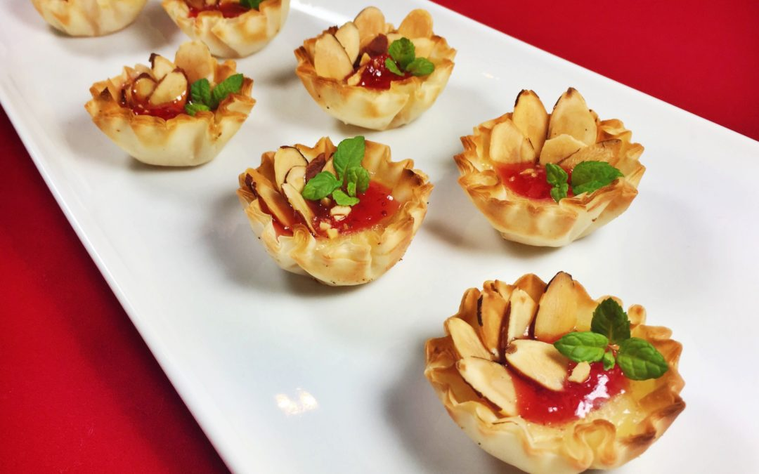 Brie and Almond Tartlets