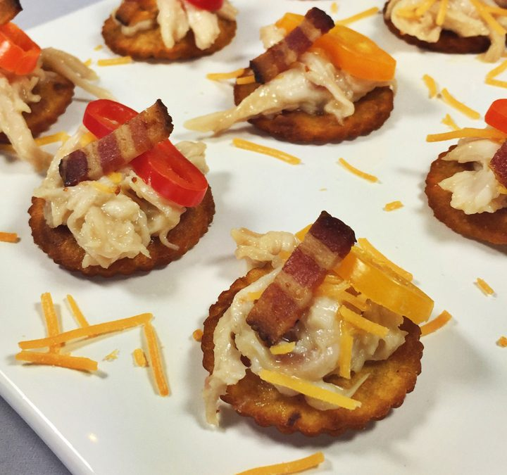 Bourbon Chicken Crisps with Bacon & Cheddar