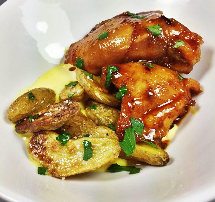 Harissa and Honey Chicken with Smoky Potatoes & Lemon Aioli