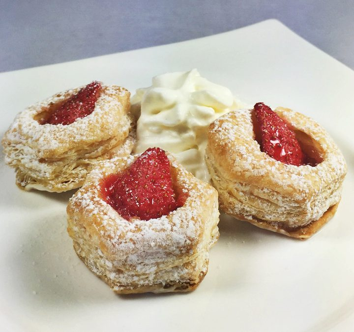 Strawberry Rhubarb Tarts With Whipped Cream