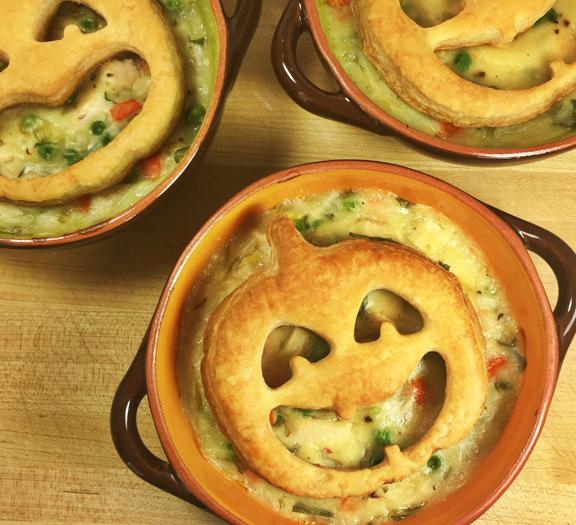 Halloween Chicken Pot Pies