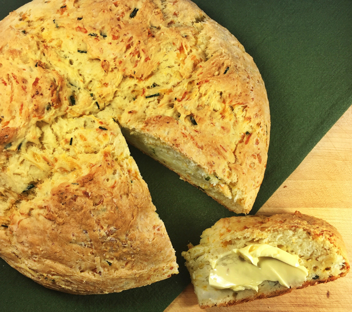 Chive and Cheddar Irish Potato Bread