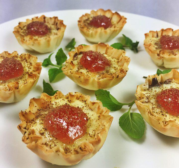 Chocolate Raspberry Cheesecake Mini Tarts