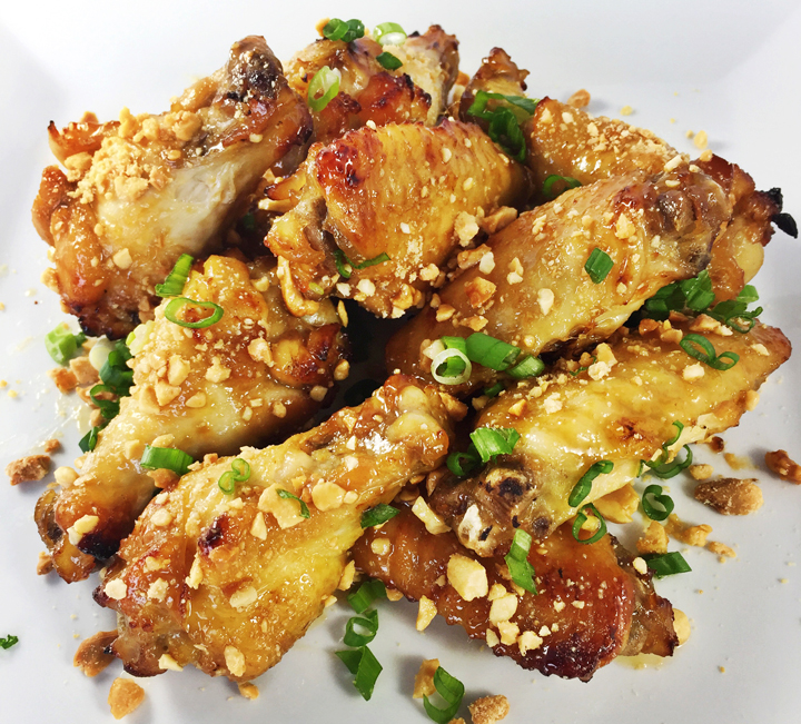 Maple Peanut Chicken Wings