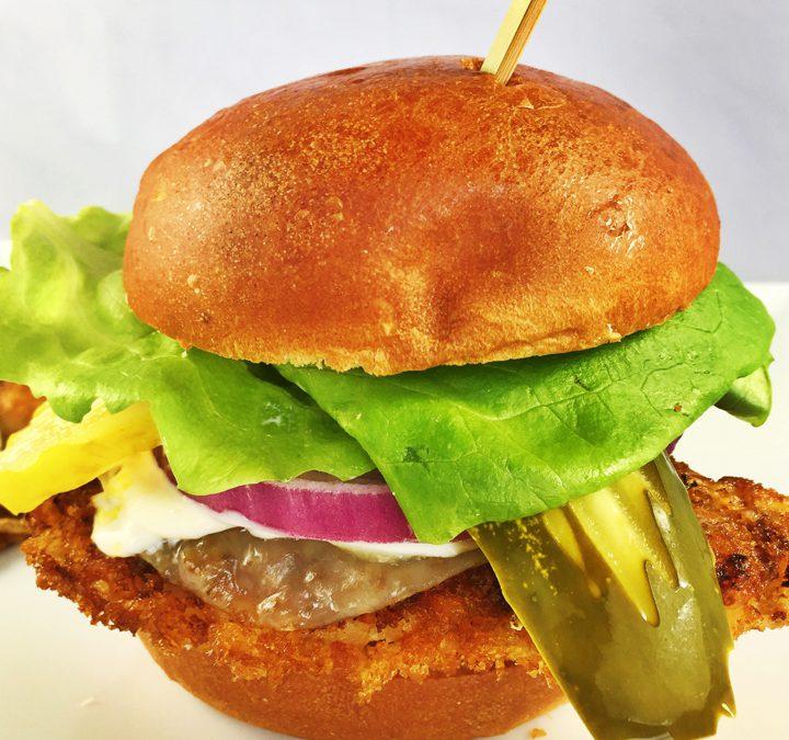 Pork Tenderloin Sandwich with Lemon Mayonnaise & Provolone