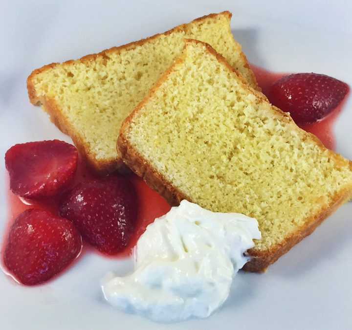 Ginger Citrus Cake With Compressed Strawberries