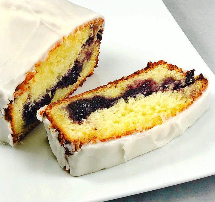 Lemon Blueberry Jam Cake