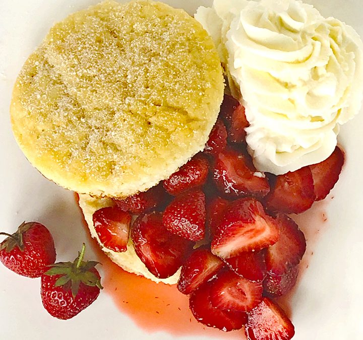 Fresh Strawberry Ginger Shortcake