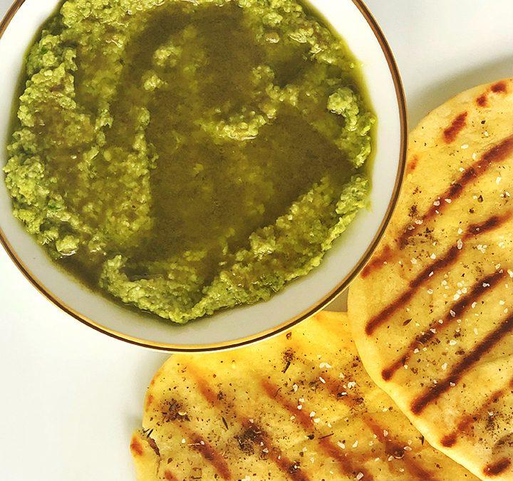 Edamame & Garlic Scape Hummus
