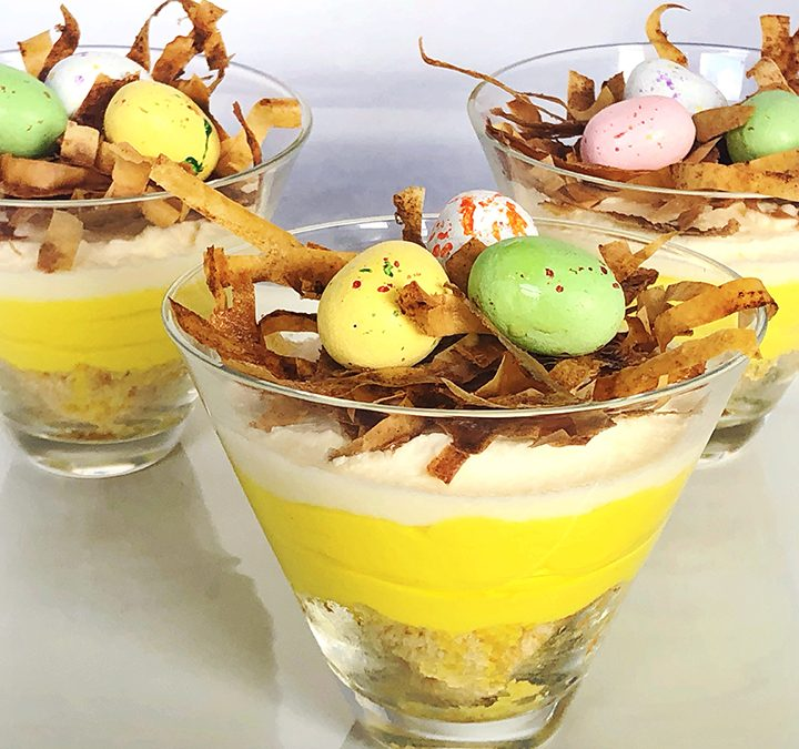 Lemon Cheesecake Birds' Nests
