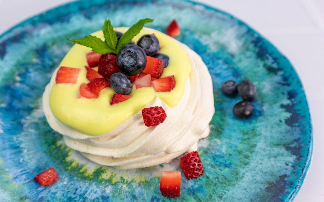 Lemon Curd and Summer Fruit Meringues
